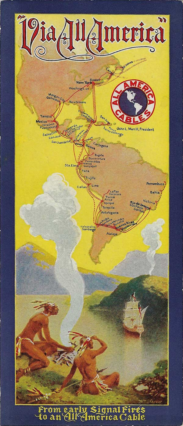 All America Map.History Of The Atlantic Cable Submarine Telegraphy All America
