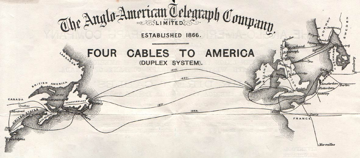 1866: First Permanent Transatlantic Telegraph Line | History of ... Pacific Ocean Underwater Map