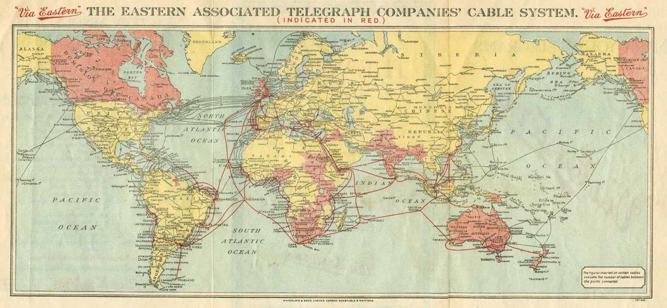 History of the Atlantic Cable and Submarine Telegraphy Submarine – Eastern Map